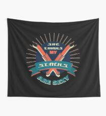 Funny Truck Driver Double meaning Stacks Jokes Tee Wall Tapestry