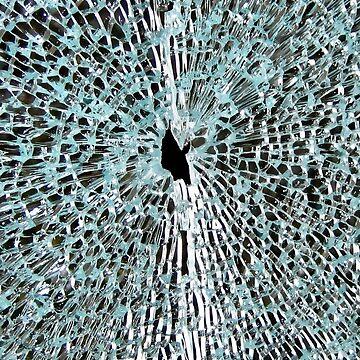 shattered glass broken phone screen by closeddoor