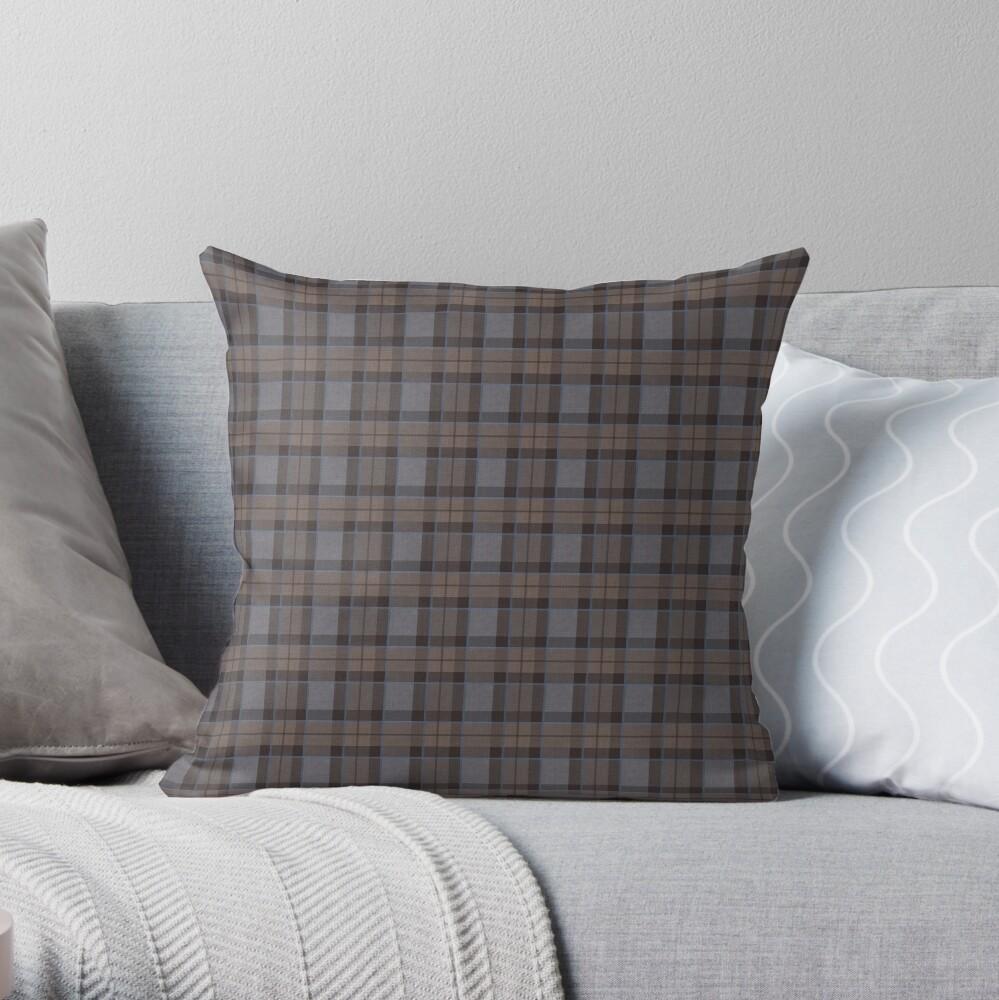 outlander tartan - fraser tartan Throw Pillow