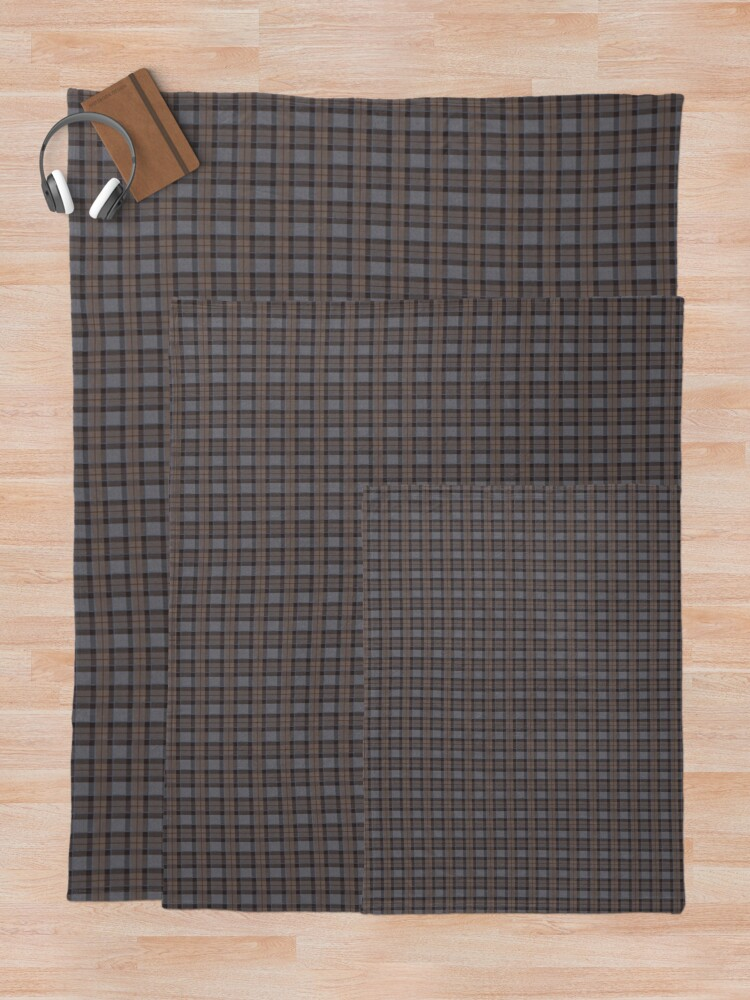 Alternate view of outlander tartan - fraser tartan Throw Blanket
