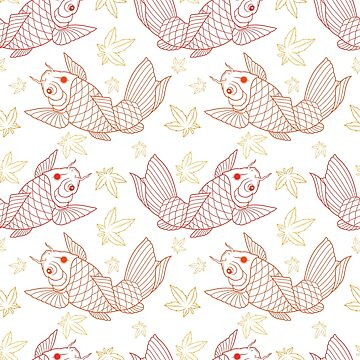 Koi Fish Pattern_lines by satoriartwork