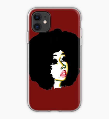 Look Beyond Your Future Afro Hair Natural Hair Art iPhone Case