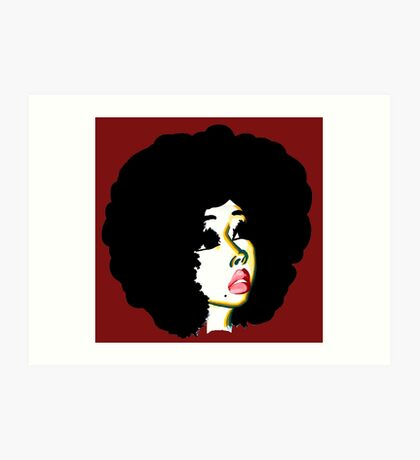 Look Beyond Your Future Afro Hair Natural Hair Art Art Print