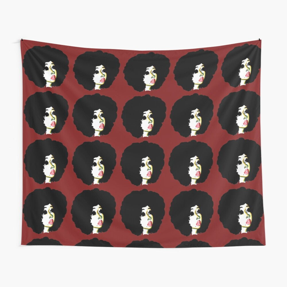 Look Beyond Your Future Afro Hair Natural Hair Art Wall Tapestry