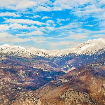 Alpes Mountains Aerial View Piamonte District Italy by DFLCreative