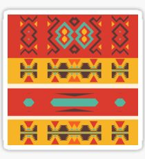 Tribal shapes in retro colors Sticker