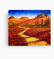 Tuscany Cypress Shadows Canvas Print