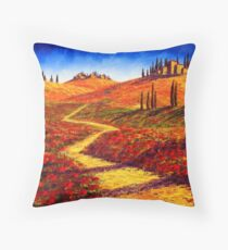 Tuscany Cypress Shadows Throw Pillow