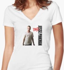 Pinkman's BAD Women's Fitted V-Neck T-Shirt