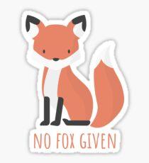 This little critter gives no fox Sticker