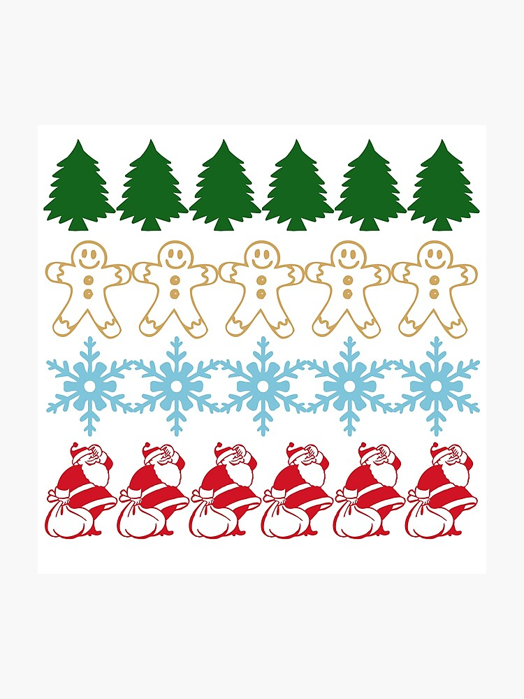 Ugly Christmas Sweater Pattern.Funny Cute Ugly Christmas Sweater Pattern Photographic Print