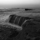 Terrigal Waterfall in Black and White by Mike Salway