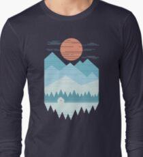Camiseta de manga larga Cabaña en la nieve