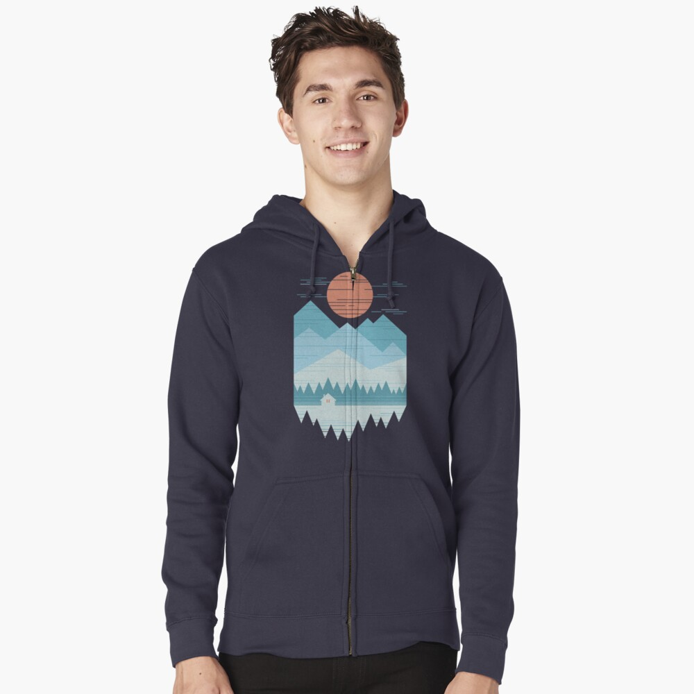 Cabin In The Snow Zipped Hoodie