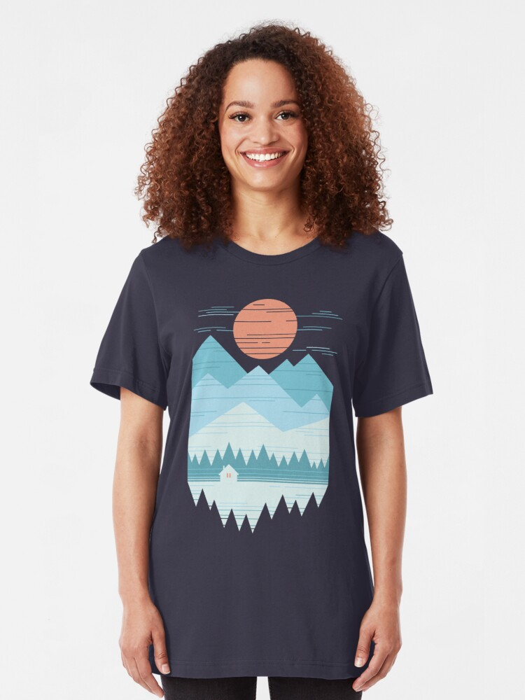 Alternate view of Cabin In The Snow Slim Fit T-Shirt