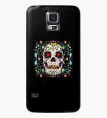 Skull Colored Flowers Funny Cool Friends Gift Hülle & Klebefolie für Samsung Galaxy