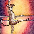 Greyhound Dog Ballerina by SusanAlisonArt