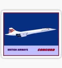 BRITISH AIRWAYS : Vintage Supersonic Concord Advertising Print Sticker