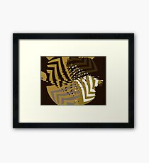 Mathematical ripples Framed Print
