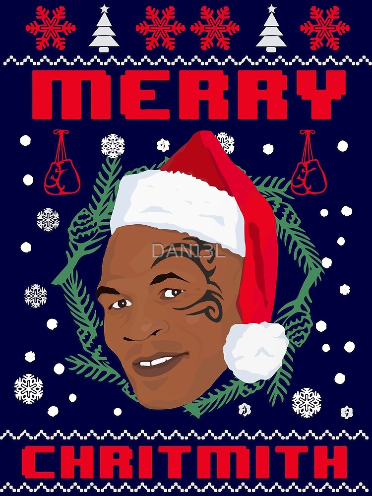 Mike Tyson Merry Christmas.Mike Tyson Christmas Poster