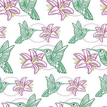 HUMMINGBIRD_Pattern by satoriartwork