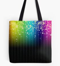 Colorful Space Rainbow Stars Tote Bag