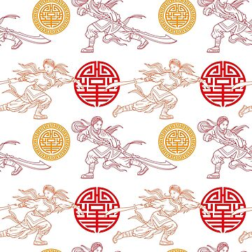 Chinese Fighter Girls_Pattern by satoriartwork