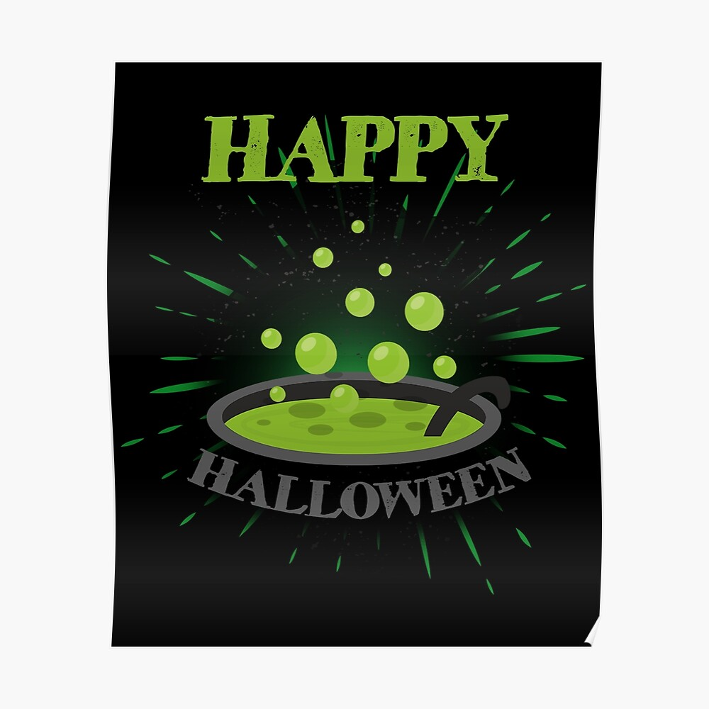 Horror Witch Enchantress Potion Halloween Funny Gift Póster