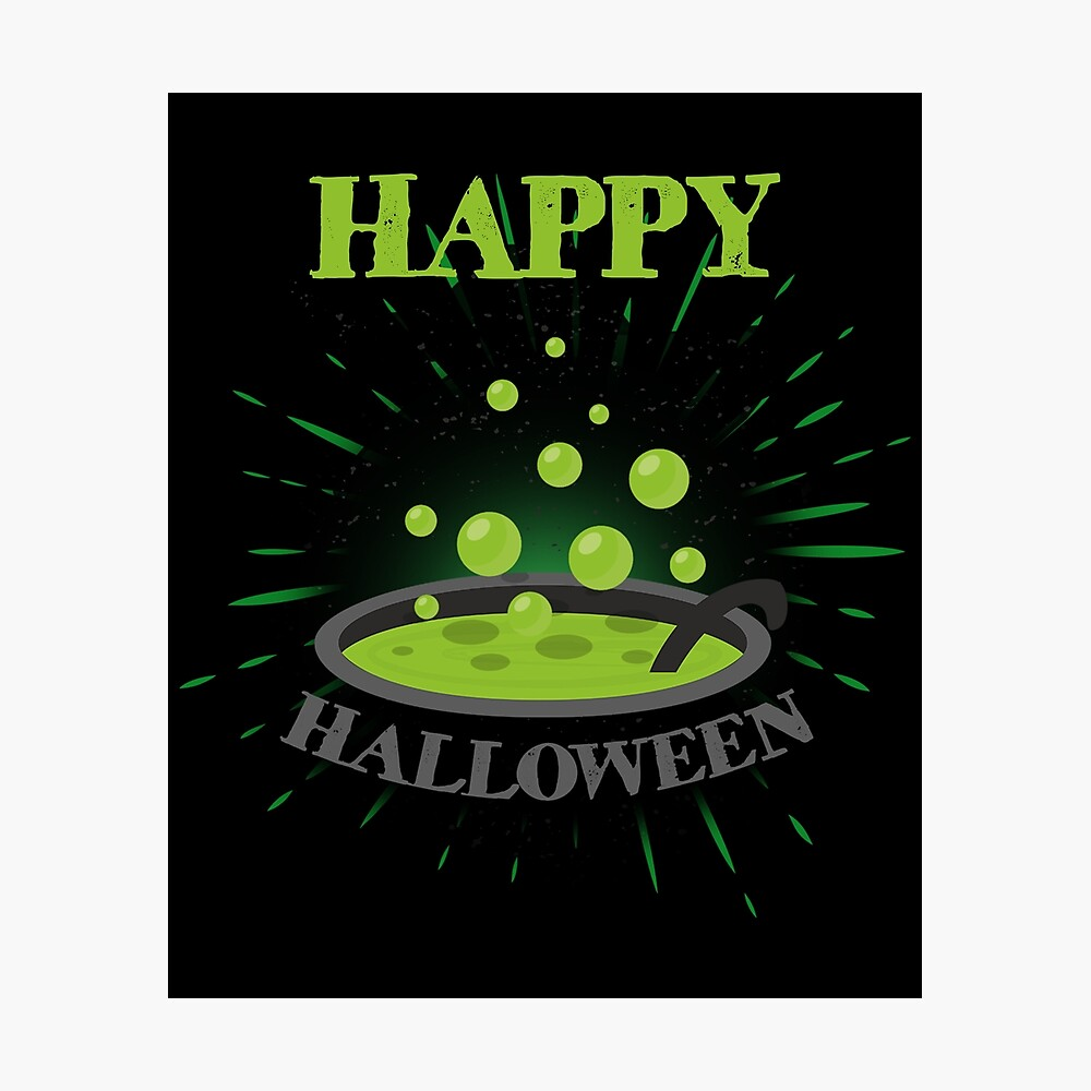 Horror Witch Enchantress Potion Halloween Funny Gift Lámina fotográfica