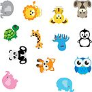 Animal Stickers by axemangraphics