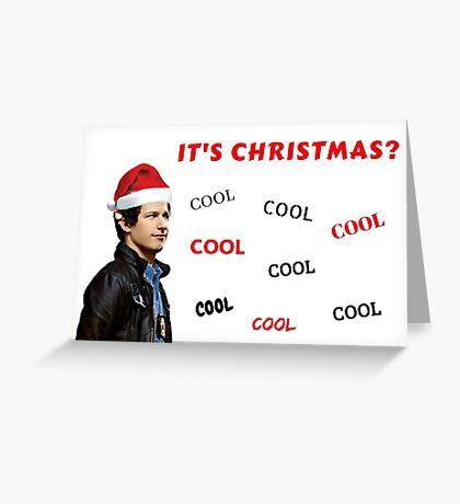 Tarjeta de Navidad de Brooklyn 99, Andy Samberg, Jake Peralta, Capitán Holt, Gina, Cool, Cotizaciones, Regalos, Regalos, Buena onda, Tarjetas de felicitación Meme Tarjeta de felicitación