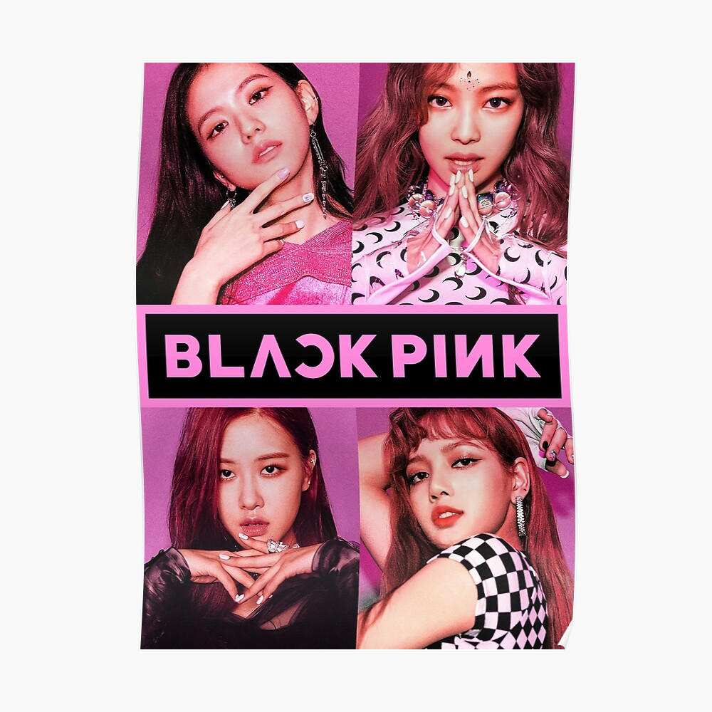 Blackpink - Square Up: Gruppe (mit Logo) Poster