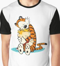 calvin and hobbes Hug Graphic T-Shirt