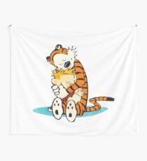 calvin and hobbes Hug Wall Tapestry