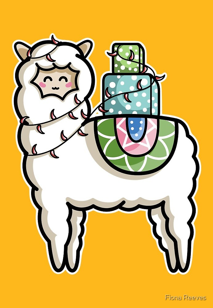 Gift Carrying Llama by Fiona Reeves
