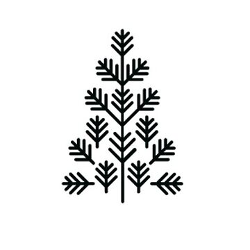 Natural Live Christmas Tree Sticker by TheKitch