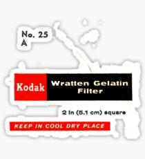Kodak No. 25 A Sticker