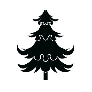 Whimsical Christmas Tree Sticker by TheKitch