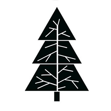 Natural Holiday Tree Live Christmas Fir Sticker by TheKitch
