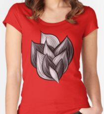 Abstract Dynamic Shapes Women's Fitted Scoop T-Shirt