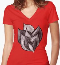 Abstract Dynamic Shapes Women's Fitted V-Neck T-Shirt