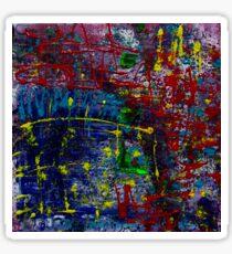 Muster bunte abstrakte Kunst  Sticker