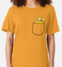 Adventure Time Pocket Jake Slim Fit T-Shirt