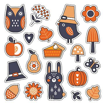 Cute Scandi Style Autumn Patches by daisy-beatrice