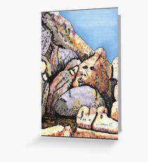 A Boulder Face Greeting Card