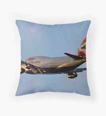 British Airways 747 Departure Throw Pillow