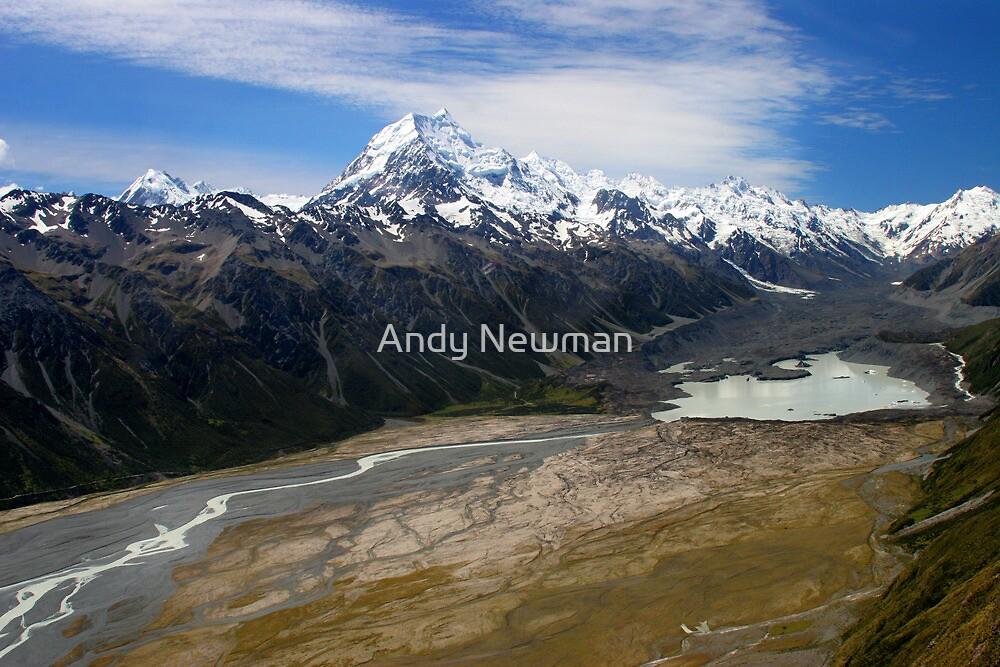 Aoraki, and Tasman Lake. by Andy Newman