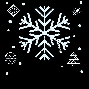 Big Snowflakes Cute Merry Christmas Snow Gift by BUBLTEES