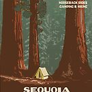 Vintage poster - Sequoia National Park by mosfunky