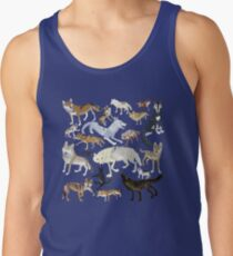 Wolves of the world - Gray Tank Top